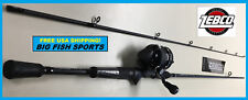 "ZEBCO 6'6"" OMEGA PRO Spincast Fishing Combo Rod and Reel NEW #ZO3PRO662M"