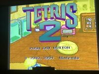 Authentic Tetris 2 (Super Nintendo Entertainment System, 1994) - TESTED - CLEAN