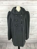 FRENCH CONNECTION Military Style Coat - UK10 - Grey - Great Condition