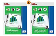 2 Pack Economy Weight Top Loading Sheet Protectors 20pack Protect Papers