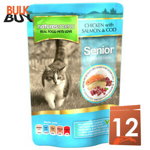 Natures Menu Senior Cat Chicken Salmon and Cod Food Pouches - 12 x 100g