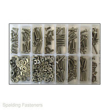 "Assorted 3/16"" UNF Stainless Steel Various Heads Machine Screws, Nuts & Washers"