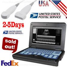 Portable ultrasound scanner laptop machine 2 Probes Convex & Linear,USA Fedex