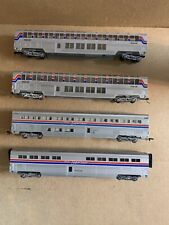 4 Con Cor HO Scale Amtrak Superliner Passenger Cars
