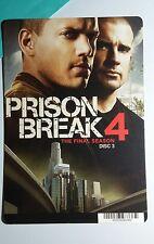 PRISON BREAK FINAL SEASON WENTWORTH PURCE MINI POSTER BACKER CARD (NOT a movie )