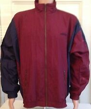 Mens Adidas Track Jacket Size L Large Zip Front Nylon