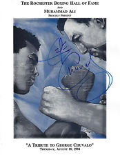 Muhammad Ali George Chuvalo Dual Autographed Rochester Boxing HOF Program COA