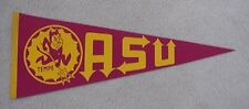 OLD LOGO 1960s-1970s ARIZONA STATE ASU SUN DEVILS FULL SIZE PENNANT UNSOLD STOCK
