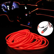 Red 5M/ 16ft LED Car Interior Decor Atmosphere Wire Strip Light Lamp Accessories