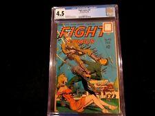 "Fight Comics #42 CGC 4.5  -  ""Rip Carson - Paratrooper""!  Golden Age!"
