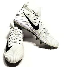 Nike Alpha Menace Elite Mens White Black Football Cleats Size 17 New