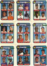"""1992   TOPPS   """"TOP PROSPECTS""""   COMPLETE 9 CARD SET"""