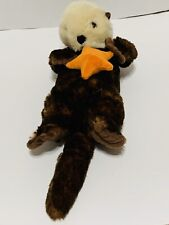 Petting Zoo Otter Holding Starfish Plush  17 inches head to tail Stuffed Animal