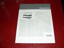 Quad Model 606 Power Amplifier Single Page Spec Sheet