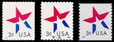 3613-15 3614 3615 Star 3c Make up Rate Set of 3 Stamps From 2002 MNH - Buy Now