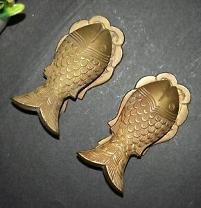 Pair Of Clips Brass Paper Clip Nemo Whale Design Twin Fish Paper Fastener EK311