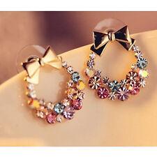 Fashion Women Lady Elegant Crystal Rhinestone Ear Stud Earrings Jewelry XMAS