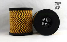 Wesfil Oil Filter WCO78 fits Peugeot 306 1.6 (65kw), 2.0 HDI 90 (66kw)