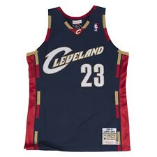 Men's Cleveland Cavaliers LeBron James Mitchell & Ness Navy 2008-09 HWC Jersey