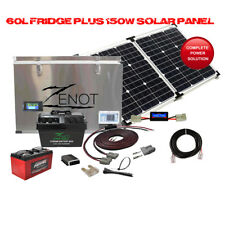 12 Volt 60L Single Zone Fridge Freezer With 160W Glass Solar And Dual Battery
