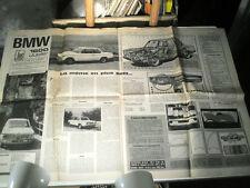 """L'AUTO JOURNAL juin 1966 : 1er ESSAI BMW 1600 jubilé + RENAULT CARAVELLE """"S"""""""