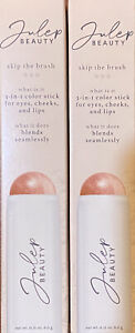 *2* Julep Beauty Skip The Brush 3 In 1 Color Stick Eyes Cheeks & Lips Rose Gold