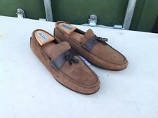 BNWT Zara Mens Moccasins Brown Leather Loafers with Tassels - UK 10 EU 44 RRP£60