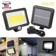 100LEDs Solar Power PIR Motion Sensor Wall Light Outdoor Garden Lamps Waterproof