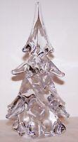 "BEAUTIFUL ART GLASS CRYSTAL EVERGREEN CHRISTMAS TREE 8"" SCULPTURE"