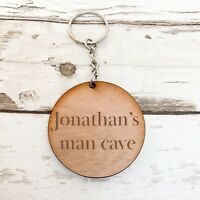 Man Cave Personalised Keyring / Valentines Gift / Gift for Him / Birthday Gift