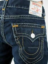 TRUE RELIGION Men's SUPER T Jeans STRAIGHT Flap Pockets Axl Grey NWT $329 Sz 40