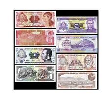 Honduras banknotes 4 ps 1 2 5 10 Lempiras unc