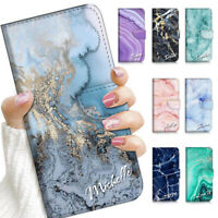 Personalised Name Marble Flip Case Cover For Optus X Go X Wave X Sight Power etc