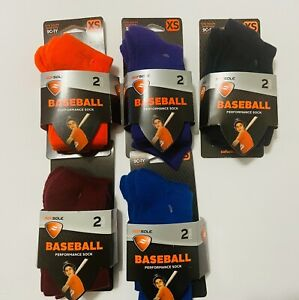 Sof Sole Baseball Sock 2 Pair  Variation Size,Color  - Youth Shoe