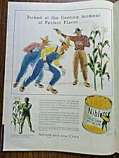 1944 Jolly Green Giant Ad Niblets Corn Picket at the Fleeting Moment of Flavor
