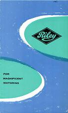 Riley 1963-64 UK Market Foldout Sales Brochure Elf 1.5 4/72