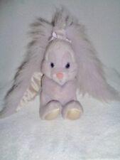 Bunny Rabbit Long Furry Sparkle Satin Ears Purple Vtg Applause Sue Sona Plush