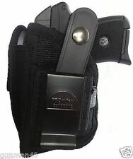 Black Nylon Gun holster Fits Smith & Wesson Bodyguard 380 With Laser
