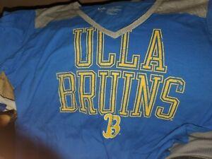 Ladies UCLA BRUINS V Neck Short Sleeve T Shirt X LARGE
