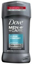 Dove Men+Care Antiperspirant Deodorant Stick Clean Comfort 2.7 oz (Pack of 2)