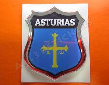 Pegatina Emblema 3D Relieve Bandera Asturias - Todas las Banderas del MUNDO