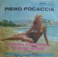 """7"""" 1963! Piero Pugliese: stessa SPIAGGIA STESSO MARE"""