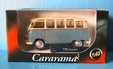 VW T1 BULLI SAMBA LIGHT BLUE CARARAMA 1/43 MINI BUS