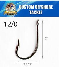 50 Stainless Sea Demon 12/0 Hooks WELDED EYE