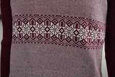 MODA TRICOT Damen Pullover rot Sterne True VINTAGE Gr. M NOS 70er OVP red stars