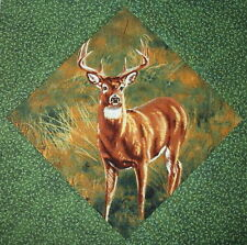 9 Wonderful Whitetail Deer Wildlife Quilt Top Blocks Deer Bucks Fawn Whitetail