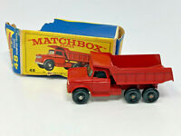 Vintage Matchbox Lesney No 48 Dumper Truck Red Made In England Diecast w/ Box