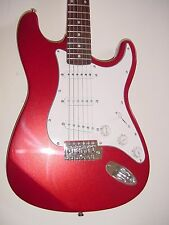 """New 39"""" Full Size  Metallic  Red 6 String  Electric Guitar with Gig Bag S Style"""