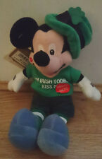 St Patrick's Kiss Me Mickey Disney Store Irish Mickey Mouse Mini Bean Bag Toy