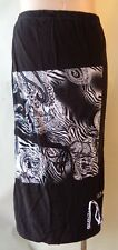 EVERSUN size 18 New black & white stretch print skirt NWT